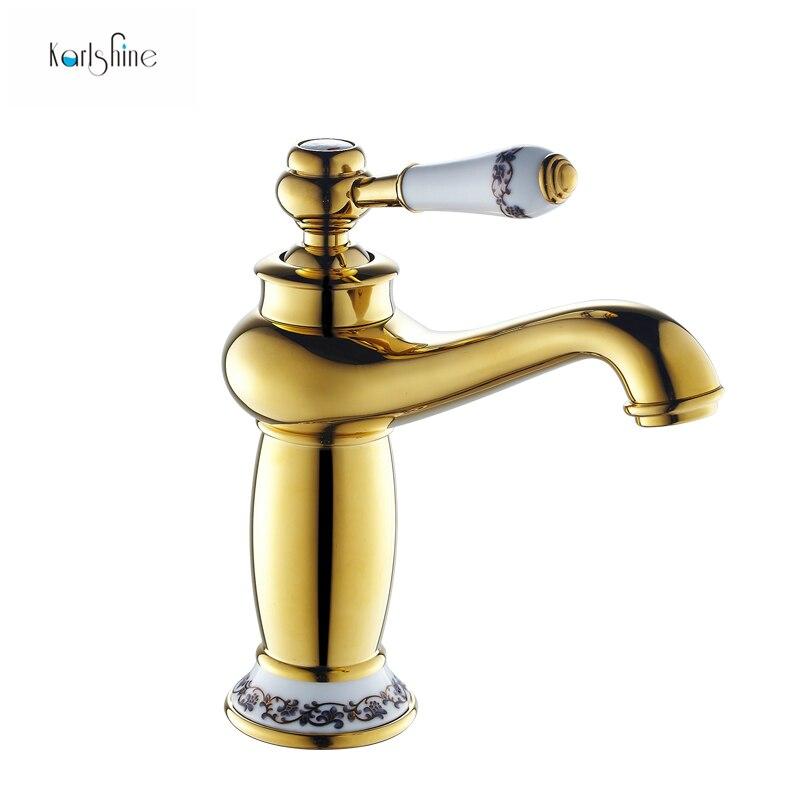 trasporto libero bagno oro rubinetto rame antico rubinetto in ottone cromato bagno rubinetti in oro rosa