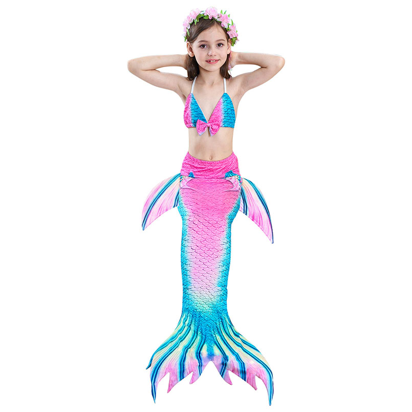 girls mermaid tail swimwear 3-5