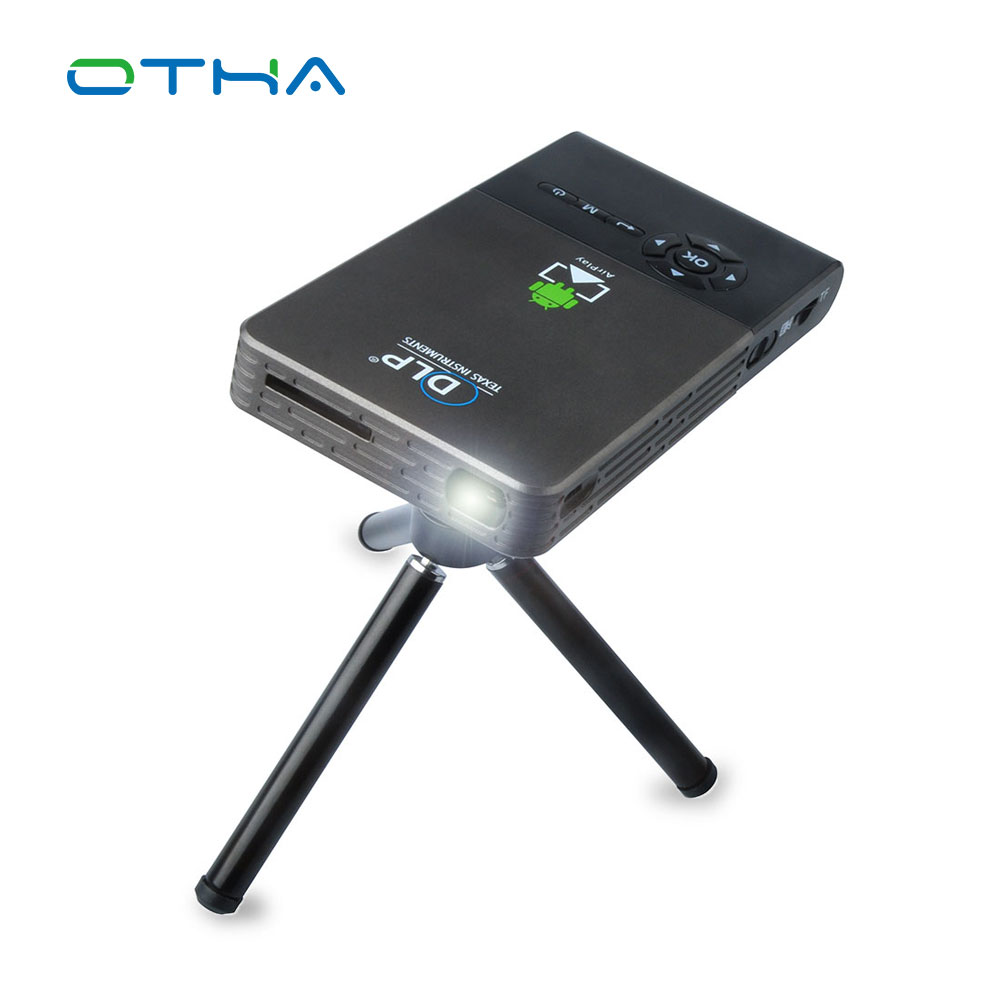 Otha mini projector wifi smart dlp projector full hd proyector bluetooth projector hdmi usb vga for Small bluetooth projector