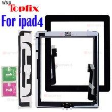 """1 pçs para ipad 4 tela de toque 4th gen a1458 a1459 a1460 9.7 """"lcd toque digitador da tela exterior substituição do painel vidro frontal"""
