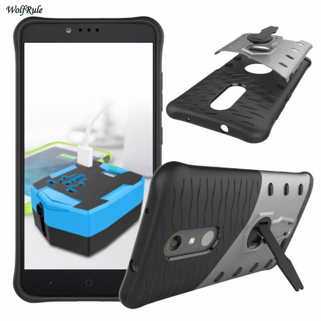 Cover For ZTE ZMax Pro Case Z981 Shockproof Silicone Rubber Hybird Plastic Mobile Phone Kickstand Case For ZTE Z981 Cover Fundas