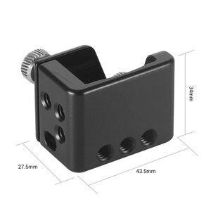 """Image 2 - SmallRig Osmo Cage for DJI Osmo Pocket Features a 3/8"""" 16 and nine 1/4"""" 20 threaded holes for Camera Tripod Attachment  CSD2321"""