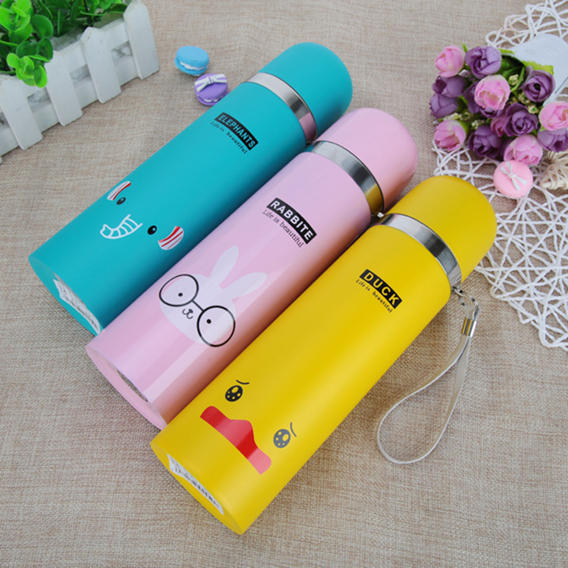 Small pets Pattern Outdoor Water Bottle Stainless Steel Vacuum Flaskes Drinkware Bottle Hot and Cold Thermoses Insulation