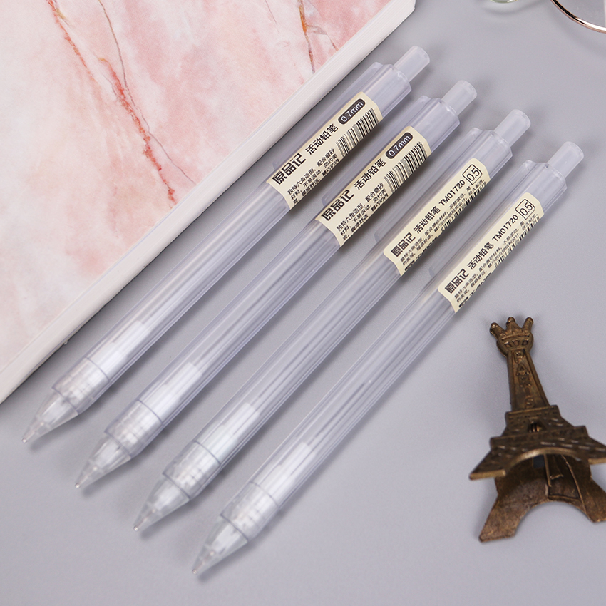 Korean Plastic Mechanical Pencil Transparent Automatic For Students Stationery