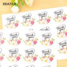 120 шт цветок Круглый Спасибо ручная упаковка для торта уплотнительные