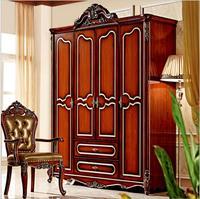 ארבע דלת ארון עתיק אירופאי כל המלתחה צרפתית כפרי ריהוט ארון בגדים pfy5002
