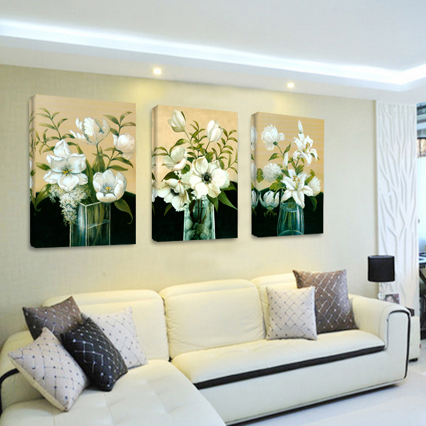 beautiful oil paintings chinese home decoration wall art flower canvas print painting pictures bilder modern picture