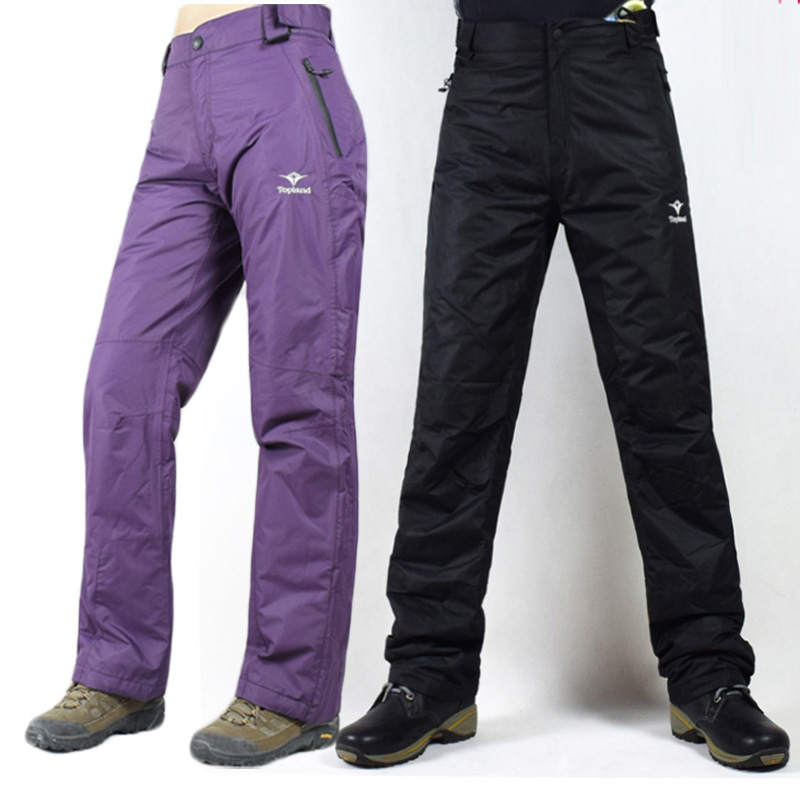 -30 Woman Snow pants Skiing and snowboarding Trousers Waterproof Windproof Winter Outdoor Sports Ski pants purple and black  proof nautical clothing pants skiing pants waterproof windproof suspenders trousers sshx