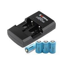 4 шт Soshine 3,2 V 300mAh CR2 литиевая батарея CR2 LiFePO4 аккумуляторная батарея