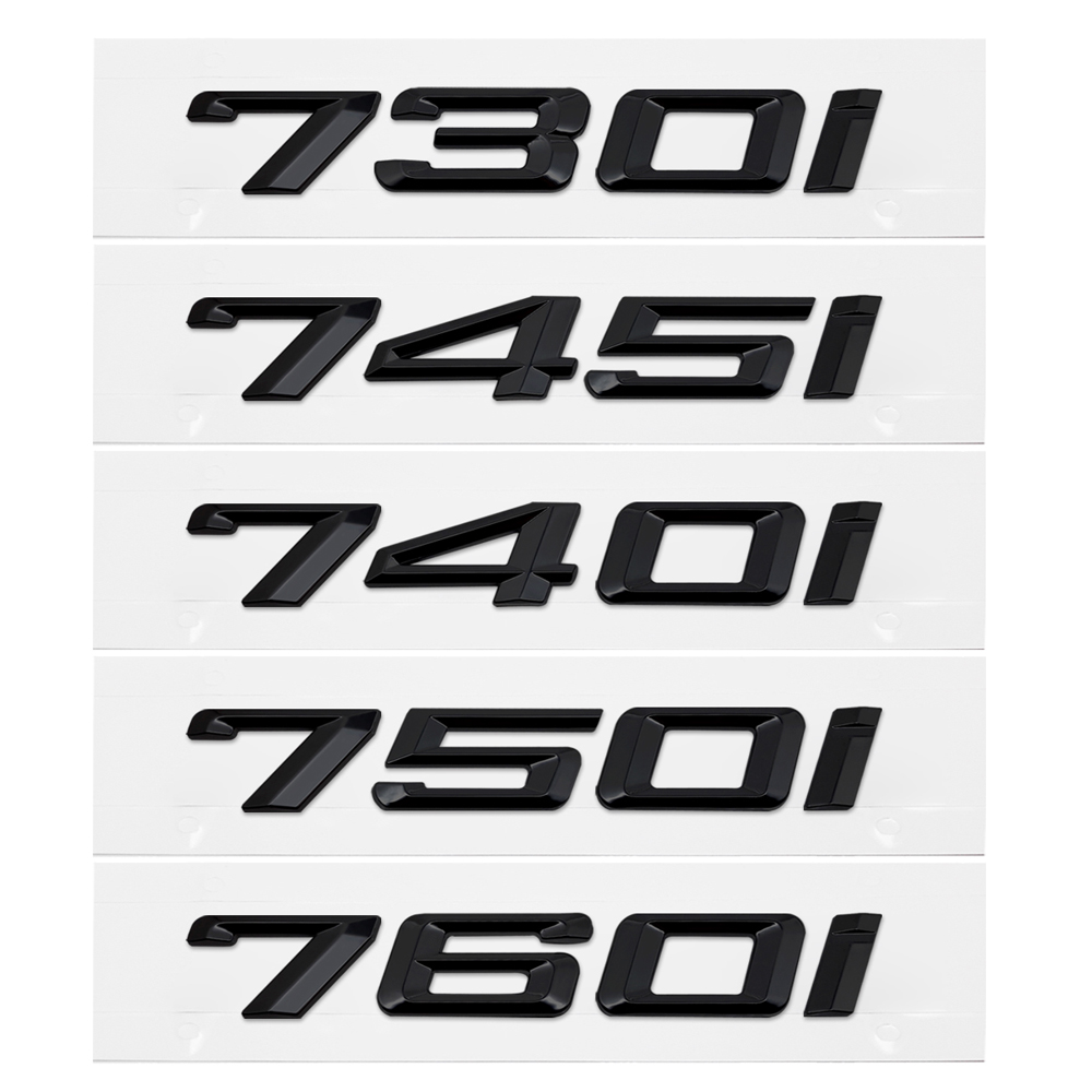 Auto Decal For <font><b>BMW</b></font> 7 Series 730i 740i <font><b>745i</b></font> 750i 760i E65 E38 E32 GT Metal Plastic Car Rear Capacity Sticker Emblem Badge Decor image