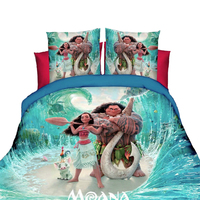 disney Moana bedding set 3pc cartoon duvet cover set boy children bedroom decor single size 3d bed spread girl linen pillow case