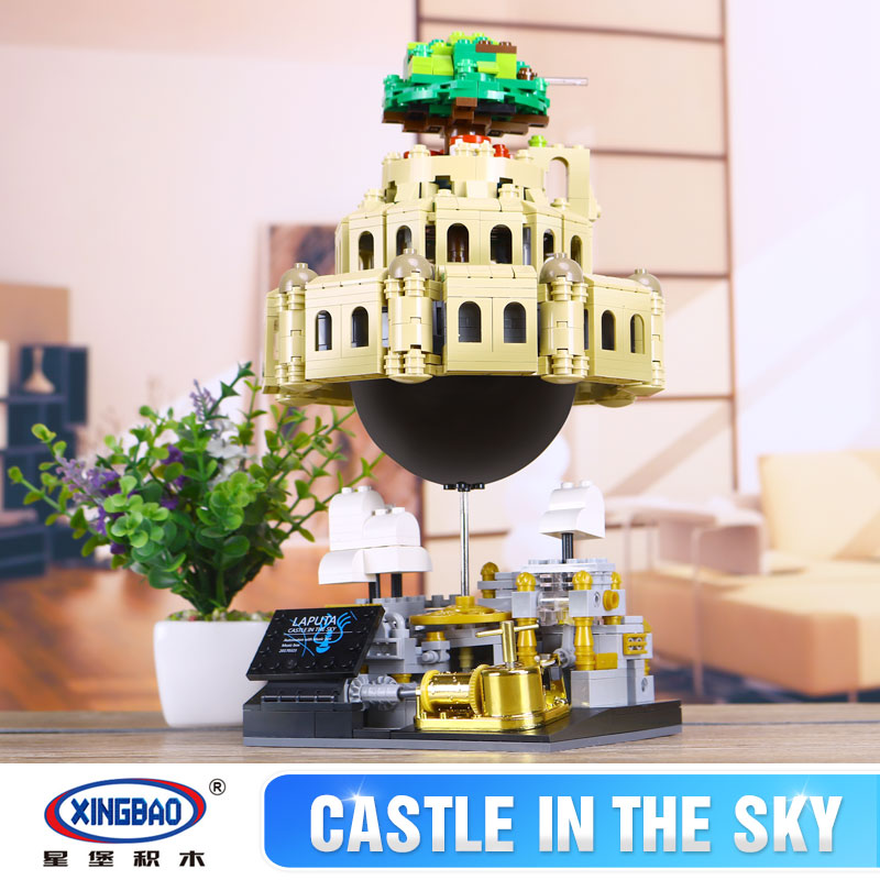 XingBao 05001 Block 1179Pcs Creative MOC Series The City in The Sky Set Educational Building Blocks Bricks Children Model Gifts free shipping original projector lamp for sanyo plc xt35l with housing