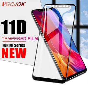 11D Tempered Glass For Xiaomi Mi Pocophone F1 Max 3 2 Screen Protector on For Mi 8 9 SE A1 A2 Lite Mi8 Pro Protective Glass Film(China)