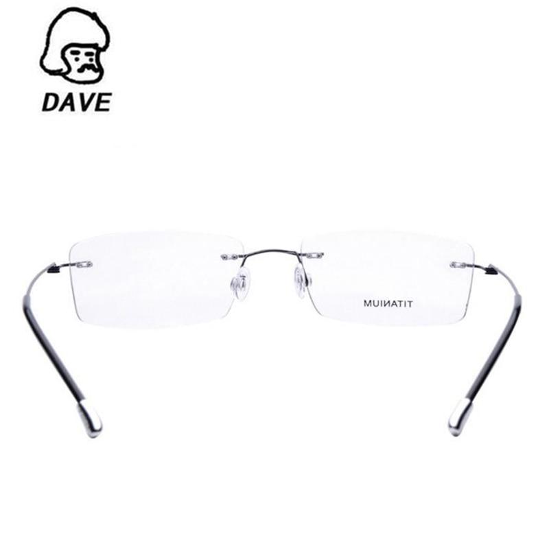 Schwarzes Platz Brillen Myopie gold Ultraleicht blau Optische Randlose Titan gun silber Frauen brown Rahmen Dave Legierung qxwavYc0