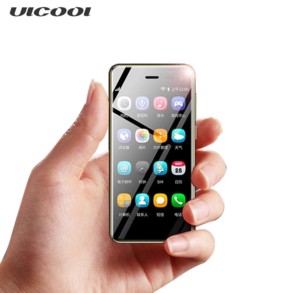 Mini Smart phone U2 4G MTK6739 1GB 8GB 3.15Inch Mini Screen Android 8.1 5MP Google Play Smallest mobile phone