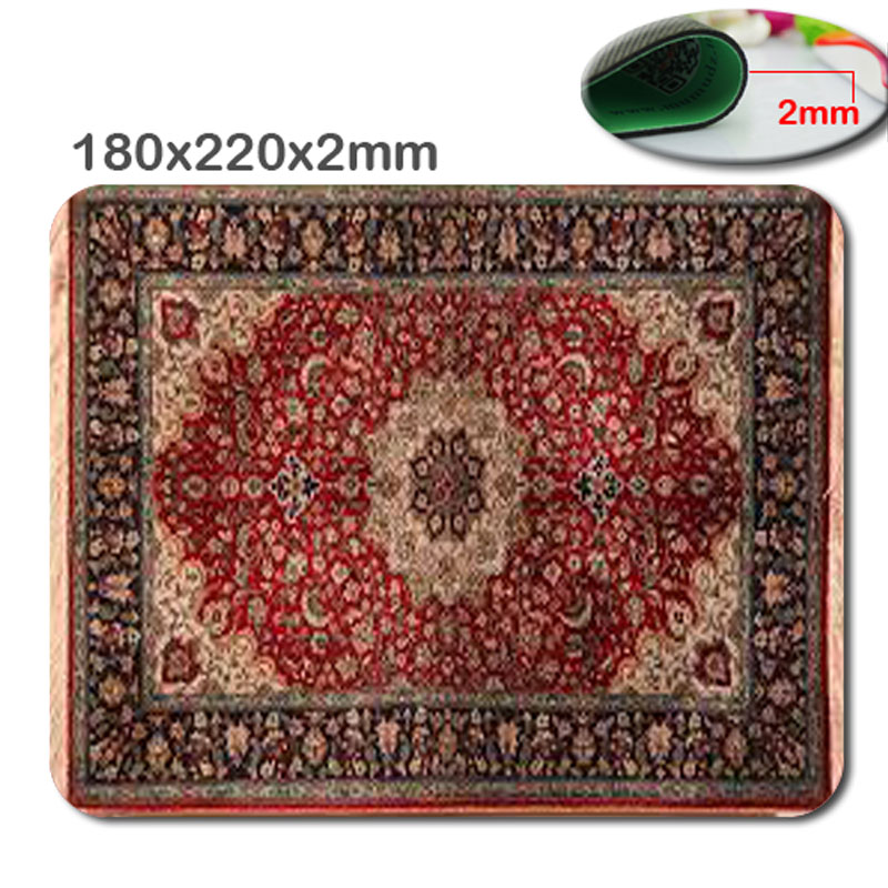 New Arrival Top Selling Print Hot Sale Personality Persian Rug Rectangular Computer Gaming Mouse Pad Gamer Play Mats 18*22*2cm