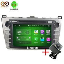 Sinairyu Android 7.1 Quad core RAM 2G Car DVD GPS Radio stereo For Mazda 6 Ruiyi 2008 2009 2010 2011 2012 WFFI SWC Map BT Audio