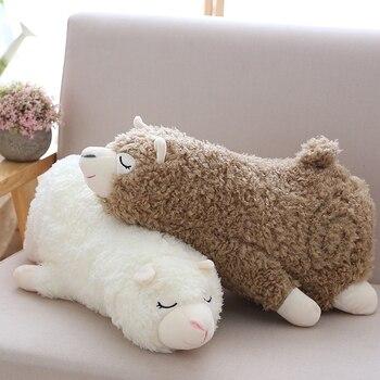 Большие размеры 35-45/65 см Alpacasso элегантные плюшевая игрушка Альпака прекрасный чучело подушки из альпаки игрушки для детей, подарок на день р... >> Baby Rus Store