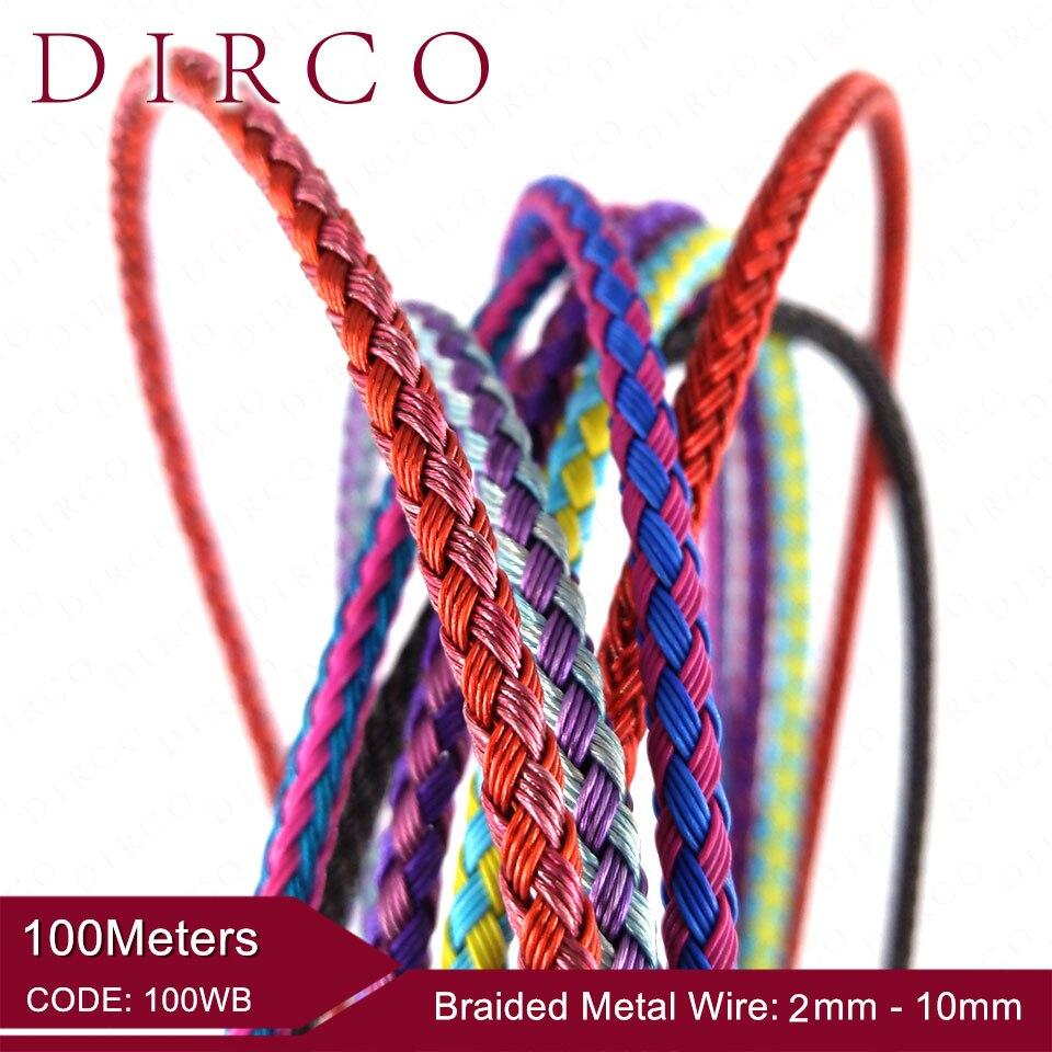 À propos de l'ajustement 2/3mm 100 M tressé métal fil maille ronde cordons bijoux accessoires bandes tissé cordes artisanat collier faisant laçage