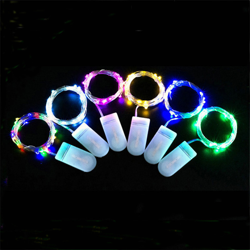 10pcs/lot  Fairy String Lights 1M/2M/3M Copper Wire CR2032 Battery Powered Fairy Rope Light For Home Party Wedding Decoration