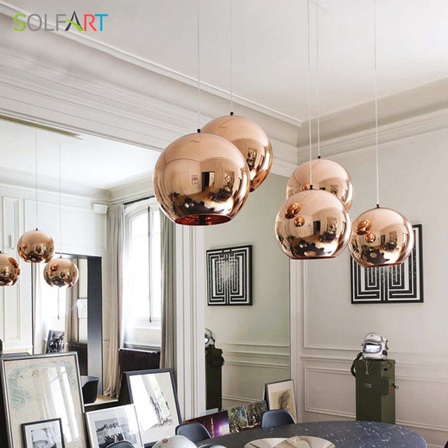 Led Pendant Lights Round Gold Bronze Color Gl Cord Dining