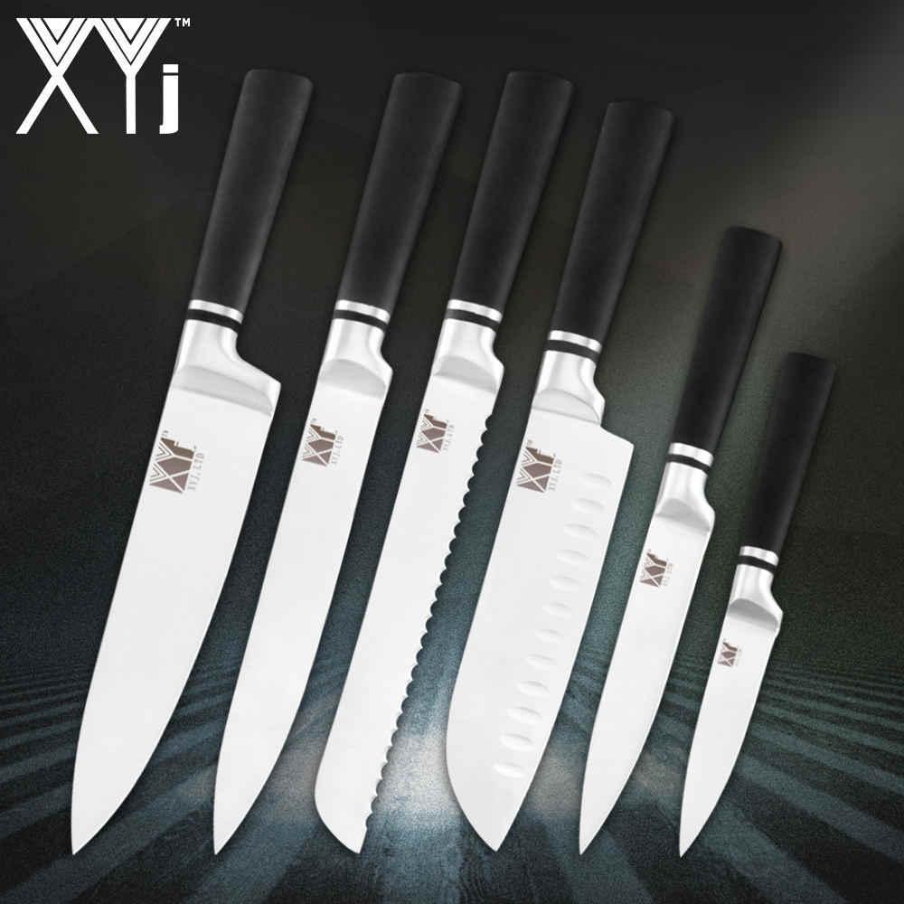 XYj кухонный нож аксессуары острый японский стиль ножи из нержавеющей стали набор