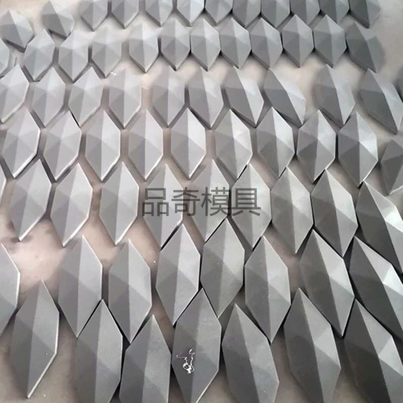 جديد 4 ثقوب الماس تصميم جدار الطوب قالب من السيليكون بلاط خرساني قالب لتقوم بها بنفسك قالب حجر الطوب