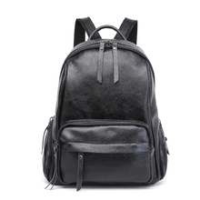 цена на women backpack split leather school bag for girls teenagers multifunctional travel backpack ladies embossing shoulder bag