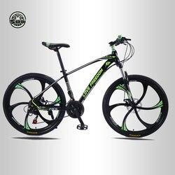 Aşk özgürlük 21 hız dağ bisikleti 26 inç yüksek karbonlu çelik çift disk frenler tek tekerlek hız sönümleme erkek kadın öğrenci bisiklet