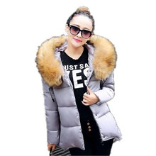 2016 New Winter Big Yards Women Super Large fur Collar Hooded Long Down Coat Thicken Warm Cloak Style Down Jacket Parka A1685