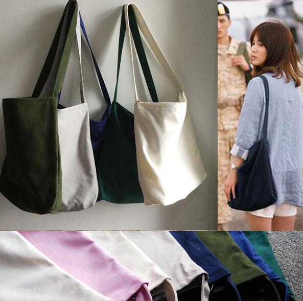Descendants of the sun, Song Hye Kyo New fashion women canvas shoulder bucket tote bag
