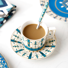 Bone china coffee cup set English afternoon tea ceramic high-grade and saucer dessert plate three-piece suit