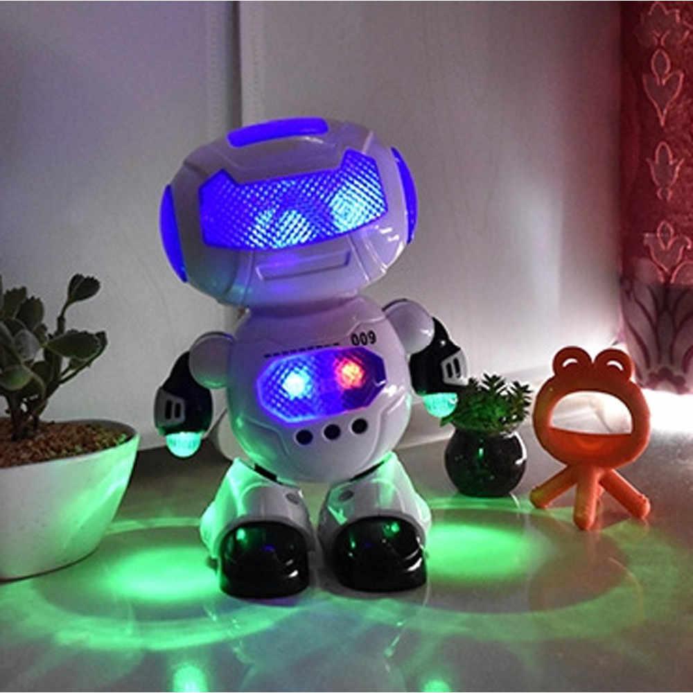 Робот-игрушка интеллектуальная фигурка электронный танцующий робот с музыкальным и освещением робот Веселые Обучающие игрушки для детей D301212