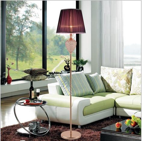 Modern Brief Elegant Fabric Crystal E27 Four Colors 160cm Foot Switch Floor Lamp Livingroom