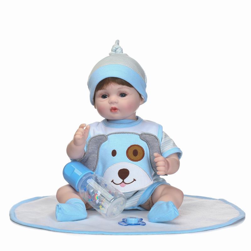 17 Inch 40CM Reborn Newborn Bebe Doll Soft Silicone Realistic Alive Princess Babies Kids New Year Birthday Christmas Gift