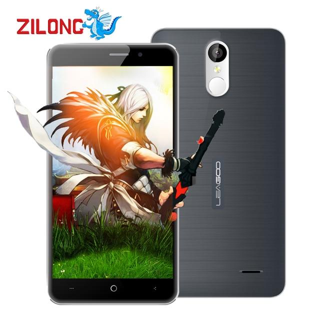 "5.5"" HD Leagoo M5 Plus 4G Mobile Phone 1280x720 MTK6737 Quad Core Android 6.0 13MP CAM 2GB RAM 16GB ROM Fingerprint Smartphone"