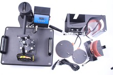 Бесплатная доставка 5 в 1 многофункциональный Комбинированный теплообмен машина DX035 Сублимации тепла пресс передаче Печатная машина Кружка Плиты