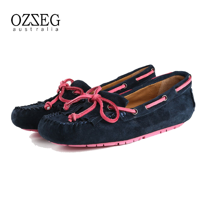 100% Real leather Women flats shoes with tassel, Handmade soft leather 6 colors, driving walking ballet, free shipping