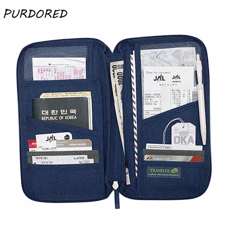 PURDORED 1 Pc Travel Passport Cover Waterproof Passport Holder Travel Wallet Credit Card Wallets Organizer Travel Accessorie