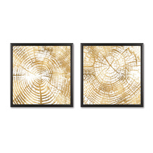 Fashion NO Frame Wall Decorations 2pcs / Set Modern Abstract decoration Canvas Print Artist Decoration