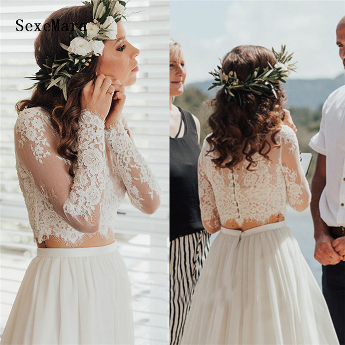 High Quality Wedding Jacket White Lace Top Lace Applique Bridal Bolero Long Sleeves Wraps Custom Size and Color Buttons Back