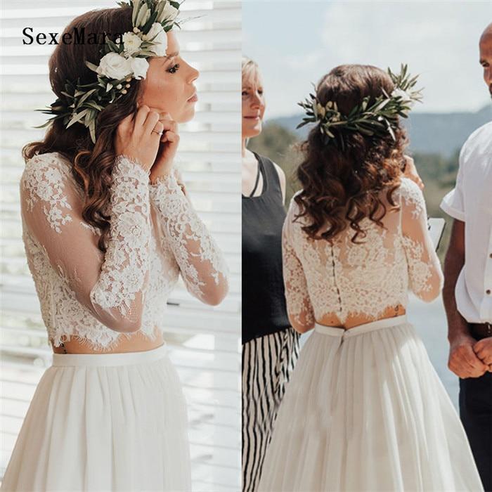 Wedding Jacket White Lace Top Lace Applique Bridal Bolero Long Sleeves Wraps Wraps Custom Size