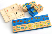 New wooden toy Calculates Domines baby toy Free shipping