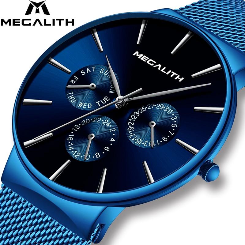 MEGALITH Man's Quartz Wristwatch Top Luxury Brand Waterproof Sport Watches For Men Fashion Casual Watch Male Clock Orologio Uomo