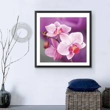 Needlework DIY 5D Diamonds Plated Moth Orchid Flower Embroidery Painting Cross Stitch Home Decorative Painting