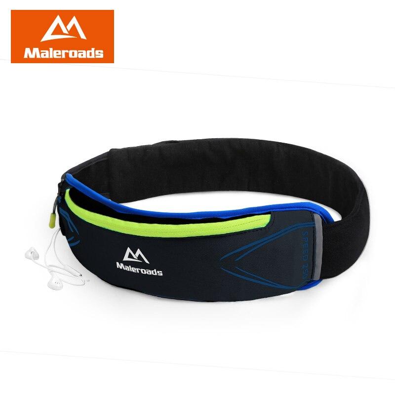 Prix pour De course ceinture maleroads fanny pack pour hommes femmes jogging gym Fitness Taille sac Noir Taille ceinture pour Les Coureurs Sport En Plein Air entraînement