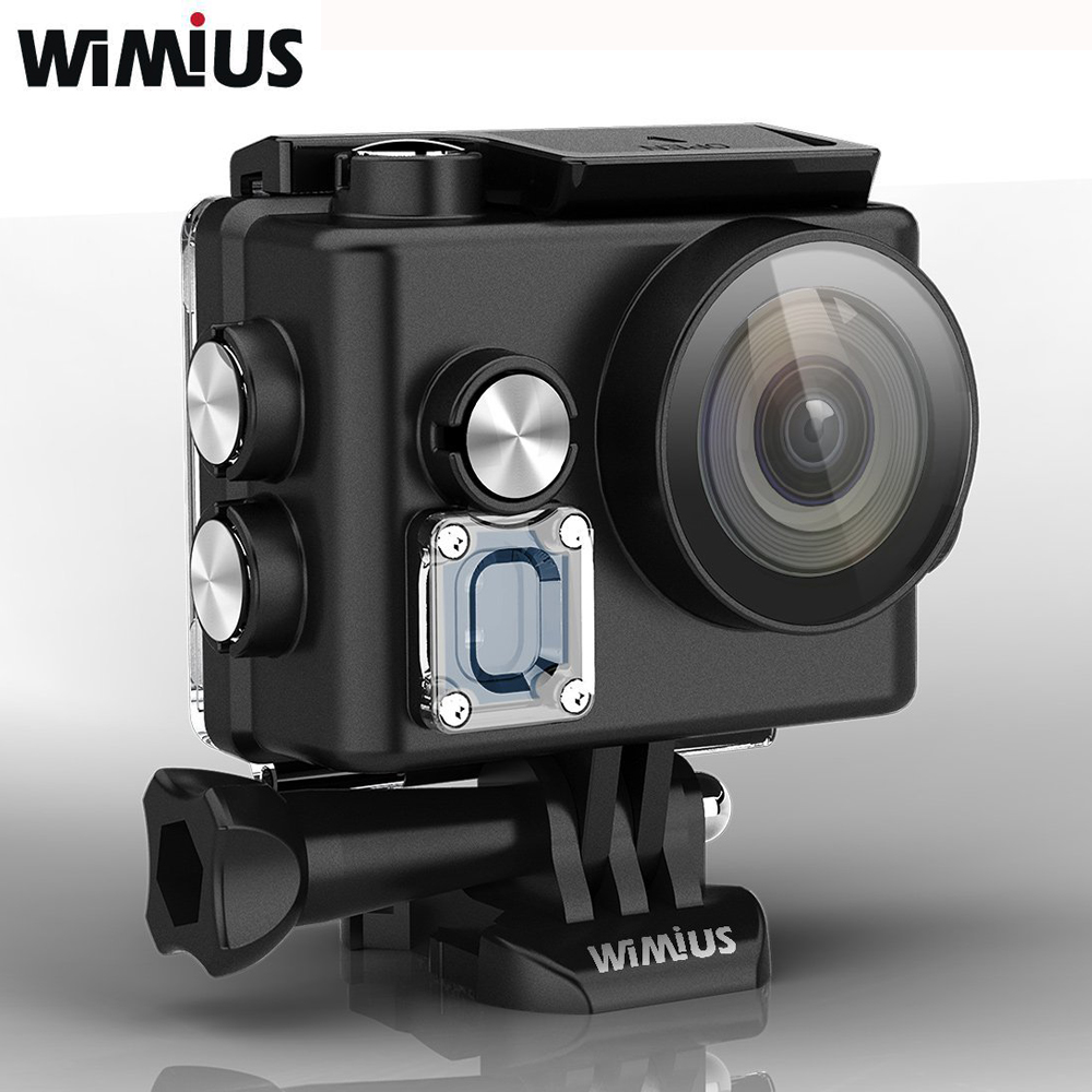 Galleria fotografica Wimius WIFI Sports Action Camera 4K Mini Video Helmet Cam Full HD 1080P 60fps 16MP Outdoor Cameras Go Waterproof 60M Pro