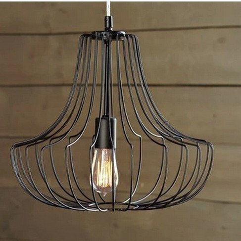 Dia40cm 60cm Quality Novelty Iron Metal Cage Net Wire Pendant Lights Lamp Indoor Lighting Fixtures