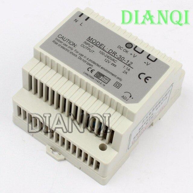 DIANQI Din rail power supply 30w 12V power suply 12v 30w  ac dc converter good quality dr-30-12