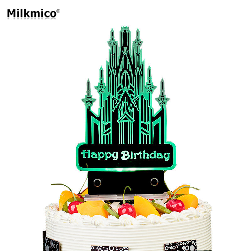 LED <font><b>Birthday</b></font> Cake Topper For Kids Baby <font><b>Birthday</b></font> Party Decor Candle For Wedding Engagement Cake Decor Light Cupcake Pick Supplies